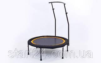 Батут з подвійною ручкою круглий 42in RECORD FI-5695 (метал, кріплення джгути, d-107см, чорний-помаранчевий)