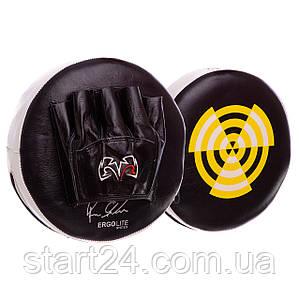 Лапа Пряма кругла шкіряна (2шт) RIVAL MA-3301 (р-р 27х6см, чорний-жовтий)