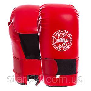 Перчатки для тхэквондо ITF MA-4767-R-XL (PU, р-р XL, красный)