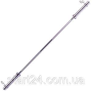 Гриф для штанги Олимпийский прямой TA-8071 (l-1,8м, рук.d-50мм, гр.d-28мм,вес 13кг,зам.пружин) 8070