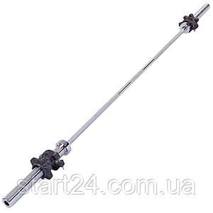 Гриф для штанги Олимпийский прямой TA-8072 (l-2,18м, рук.d-50мм, гр.d-28мм, вес 18,5 кг,замок винтовой)