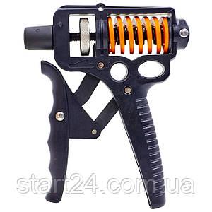 Эспандер кистевой с регулируемой нагрузкой 20-130кг CIMA Grip Ultra (1шт) CM-W777 (металл)