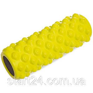 Роллер для занятий йогой и пилатесом Grid Bubble Roller l-36см FI-5714 (d-14см, l-36см, цвета в ассортименте)