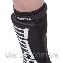 Защита голени и стопы чулочного типа с фиксатором на липучке MATSA MA-6238-BK (р-р XS-XL, черный), фото 2