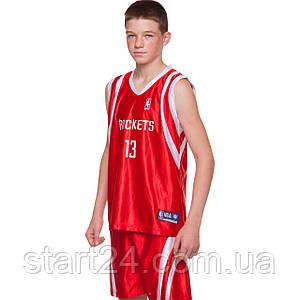Форма баскетбольная подростковая SP-Sport NBA LAKERS 24 CO-0038 (PL, р-р M-XL, рост 135-155, цвета в