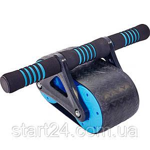 Ролик для пресса FI-5728 (пластик, металл, р-р 37х23х15,5см, синий)
