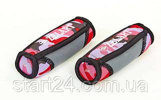 Гантелі для фітнесу з м'якими накладками Zelart FI-5730-2 (2х1кг) (2шт, наповнювач-метал.кульки, камуфляж