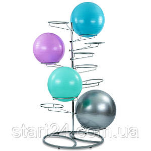 Подставка (стойка) для фитболов TA-8215 (металл, р-р 145x112x112 см)