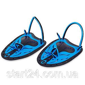 Лопатки для плавання гребні TP-200 (пластик, резина, р-р S, L, жовтий, синій, салатовий)