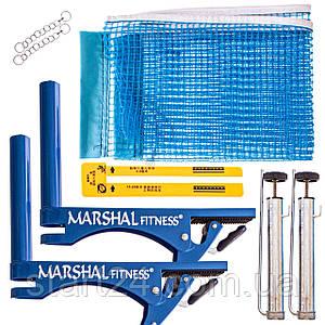 Сетка для настольного тенниса с клипсовым креплением MARSHAL MF-NET-MMM (металл, NY, PVC чехол)
