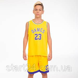 Форма баскетбольная подростковая NB-Sport NBA DAMES 23 CO-5351 (р-р M-2XL-130-165см, цвета в ассортименте)