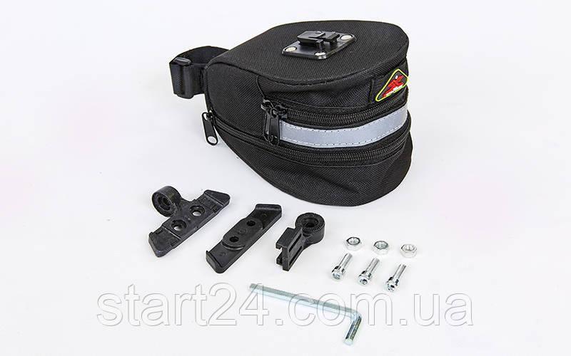 Сумка на багажник велосипеда TQ-2501 (PL, р-р 8x10x10,5см, черный)