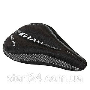 Чехол накладка на сиденье для велосипеда гелевая GIANT TQ-JJW100 (черный)