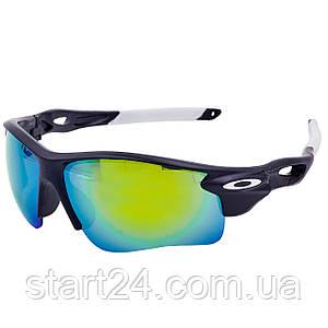 Очки спортивные солнцезащитные OAKLEY MS-2496 (пластик, акрил, цвета в ассортименте)