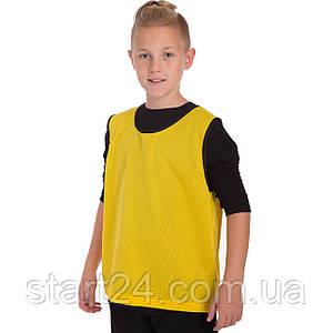 Манишка для футбола юниорская цельная (сетка) CO-5541 (PL, р-р S,M-50х57см, цвета в ассортименте)