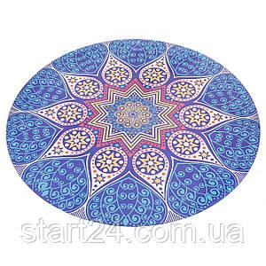 Килимок для йоги круглий Замшевий каучуковий двошаровий без чохла 3мм Record FI-6218-2 (діаметр 150см,