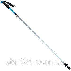 Палка треккинговая (для скандинавской ходьбы) с металлическим тросом (1шт) TY-0467 RAICO (алюминий, 5 слож,