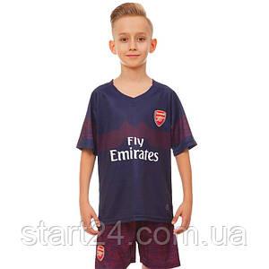 Форма футбольная детская ARSENAL гостевая 2019 SP-Planeta CO-7290 (р-р 20-28 6-14 лет, 110-155см,