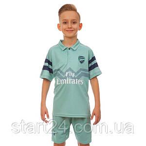 Форма футбольная детская ARSENAL резервная 2019 SP-Planeta CO-7291 (р-р 20-28 6-14 лет, 110-155см,