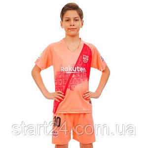 Форма футбольная детская BARCELONA MESSI 10 резервная 2019 SP-Planeta CO-7295 (р-р 20-28 6-14лет, 110-155см,