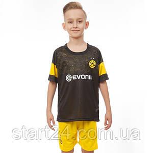Форма футбольная детская BORUSSIA DORTMUND гостевая 2019 SP-Planeta CO-7299 (р-р 20-28-6-14лет, 110-155см,