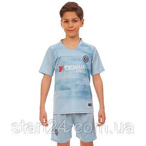 Форма футбольная детская CHELSEA резервная 2019 SP-Planeta CO-8014 (р-р 20-28-6-14лет, 110-155см,