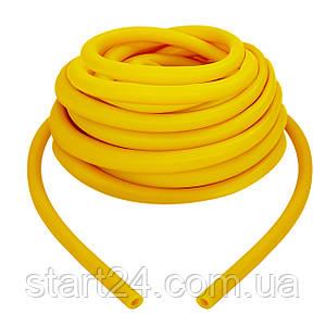 Жгут эластичный трубчатый, борцовский жгут FI-6253-1 (латекс, d-5 x 8мм, l-1000см, желтый)