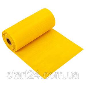 Лента эластичная для фитнеса и йоги в рулоне CUBE (р-р 5,5мx15смx0,45мм) FI-6256-5_5 (латекс, цвета в