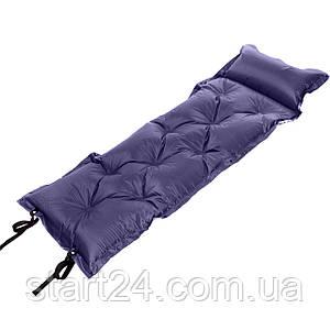 Килимок самонадувающийся з подушкою TY-0559 (поліестер, розмір 1,85мх0,5м, кольори в асортименті)