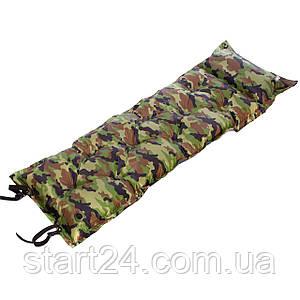 Коврик самонадувающийся с подушкой TY-0560 (полиэстер, размер 1,85мх0,5м, камуфляж)