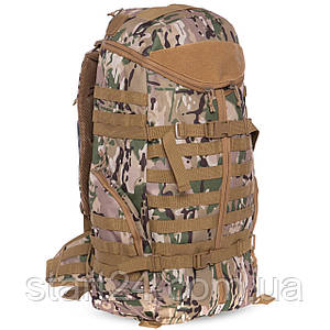 Рюкзак тактический рейдовый 55 литров SILVER KNIGHT TY-078 (нейлон, оксфорд 900D, размер 64х34х21см, цвета в