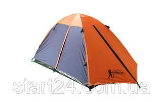 Палатка кемпинговая 3-х местная с тентом и коридором TOURIST CT17103 (р-р 1,8х(1+2)х1,2м,PL 170T,PE)