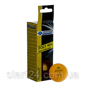 Набор мячей для настольного тенниса 3 штуки DONIC MT-608328 PRESTIGE 2star (пластик, d-40мм, оранжевый)