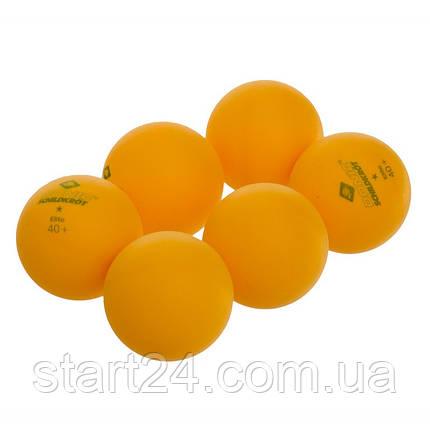 Набор мячей для настольного тенниса 6 штук DONIC МТ-618017 ELITE (целлулоид, d-40мм, оранжевый), фото 2