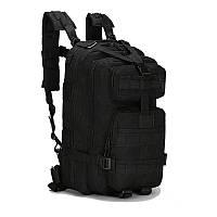 Штурмовой тактический рюкзак 25л, многофункциональный рюкзак черный Oxford 600D