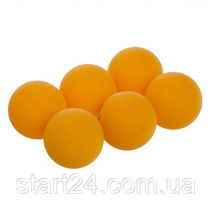 Набор мячей для настольного тенниса 6 штук DONIC МТ-618198 (целлулоид, d-40мм, оранжевый), фото 2