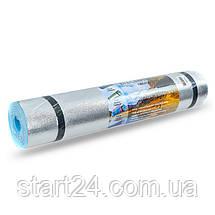 Коврик туристический (каремат) однослойный фoльгированный 6мм Record TY-2243-6 (EVA, размер 1,8мx0,6мx0,6см,, фото 3