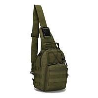 Тактическая городская сумка через плечо М3 олива