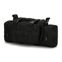 Тактический штурмовой подсумок, универсальная сумка армейская черный