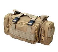 Тактический штурмовой подсумок, универсальная сумка армейская койот