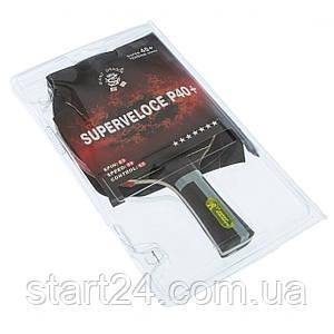 Ракетка для настольного тенниса 1 штука GIANT DRAGON SUPERVLOVE P40+ 7* MT-6538 (древесина, резина) ST12703P40