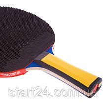 Набір для настільного тенісу 1 ракетка, 2 м'ячі з чохлом GIANT DRAGON 4* MT-6541 Offensive (деревина) 8042, фото 3