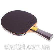 Набор для настольного тенниса 1 ракетка, 3 мяча GIANT DRAGON KARATE P40+4* MT-6544 (древесина) CST12402P40, фото 2