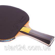 Набор для настольного тенниса 1 ракетка, 3 мяча GIANT DRAGON KARATE P40+4* MT-6544 (древесина) CST12402P40, фото 3