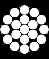 Оцинкованный стальной трос в ПВХ оболочке 2.00-6,00 мм., плетение 1x19; 6х7 по 400;200;100;20 м