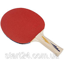Ракетка для настільного тенісу 1 штука DONIC LEVEL 200 MT-703002 APPELGREN (деревина, гума), фото 3