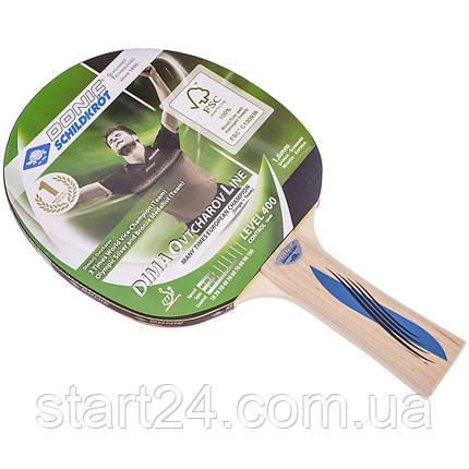 Ракетка для настільного тенісу 1 штука DONIC LEVEL 400 MT-705242 OVTCHAROV (деревина, гума), фото 2