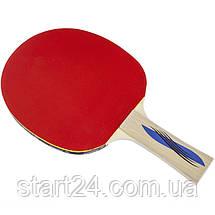 Ракетка для настільного тенісу 1 штука DONIC LEVEL 400 MT-705242 OVTCHAROV (деревина, гума), фото 3