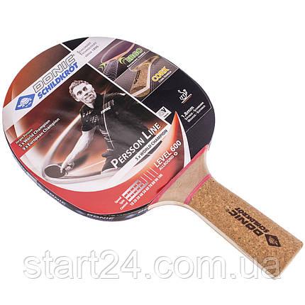 Ракетка для настольного тенниса 1 штука DONIC LEVEL 600 MT-728461 PERSSON (древесина, резина), фото 2