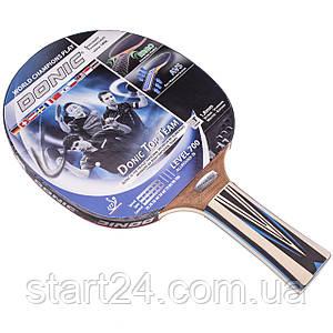 Ракетка для настольного тенниса 1 штука DONIC LEVEL 700 MT-754197 TOP TEAM (древесина, резина)